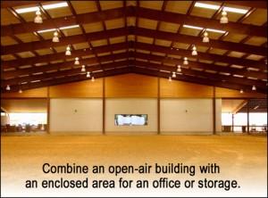 Multi-purpose open-air building