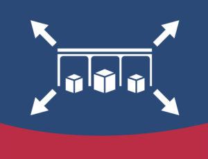 Icon depicting expanding self storage units.