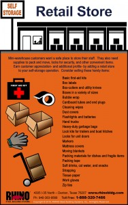 Mini-Warehouse Retail Store infographic