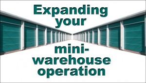 Green-doored mini-warehouse units
