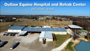 Overhead view of Outlaw Equine's sprawling vet clinic and rehab center.