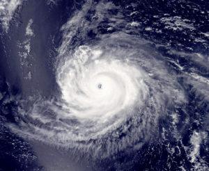 NOAA Satellite image of Hurricane/Typoon Ioke.