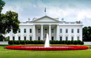 Photo of the US White House, which contains steel framing.