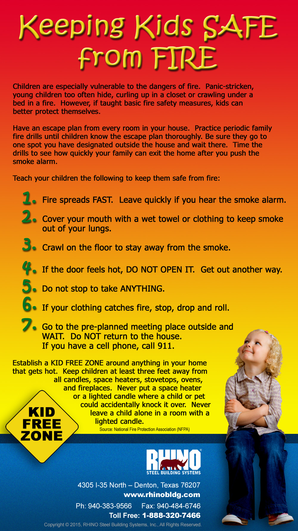 Preventing holiday fires rhino steel building systems for Fire prevention tips for home