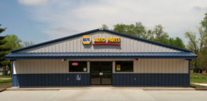 Example of RHINO prefab steel buildings for an auto parts store.