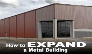 Reddish-brown metal building with brick-trimmed corner entrance