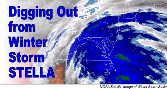Winter Storm Stella Satellite Image