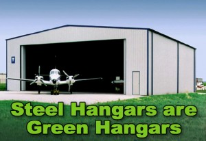 Steel Aircraft Hangars are Green Hangars