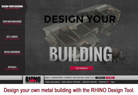 How to plan a metal building rhino steel building systems Online design tool