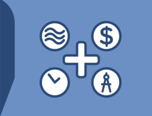 Icon drawing depicting some of the benefits available with steel buildings.