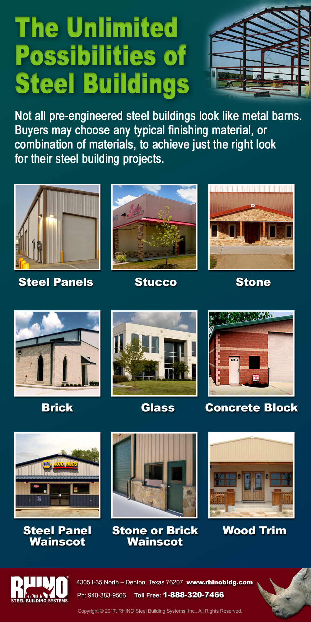 The versatility of a 40 x 60 steel building kit for Builders unlimited