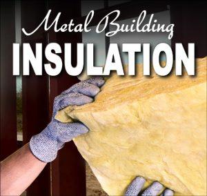 Gloved hands grasp thick fiberglass batt metal building insulation