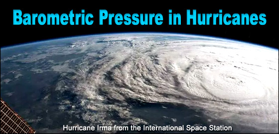 Satellite photo of Hurricane Irma.