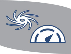 Graphic depiction of a hurricane and a barometer.