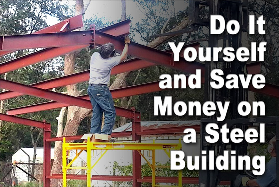 2 way to save money on a steel building diy metal buildings pre engineered metal buildings are already the most cost effective construction method available today however budget minded buyers revel in knowing they solutioingenieria Choice Image