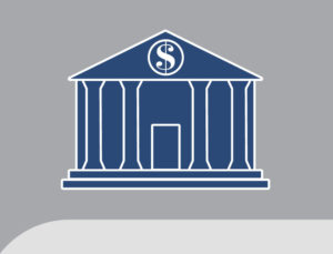 Iconic drawing of a bank