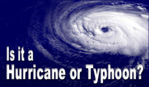 satellite view of a churning Atlantic hurricane