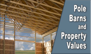 view of wooden pole barn trusses