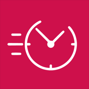 Icon representing the time saving advantages of steel buildings for meat packing plants