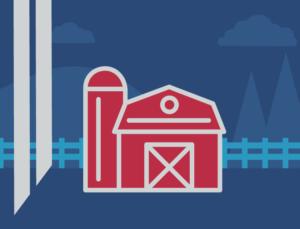 Iconic barn representing post on choosing pole barns or metal barns