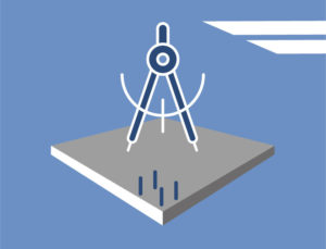 Icon depicting the importance of precision for metal building foundations