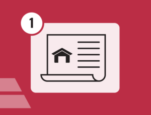 icon depicting a building permit for metal buildings