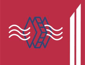 Icon depicts vapor transfer through a vapor barrier in metal building insulation