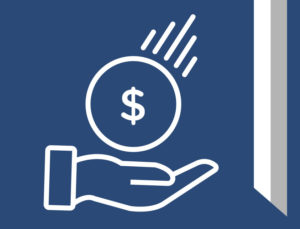 Icon image of a hand holding money.