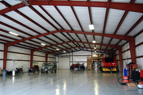Photo of interior of large personal storage building.