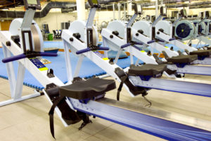 Photo of exercise machines in a fitness center.