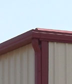 Photo of a RHINO gutter and downspout system.